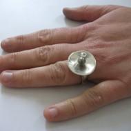 Workshop zilveren ringtop maken