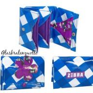zebra portemonnee blauw € 6,95