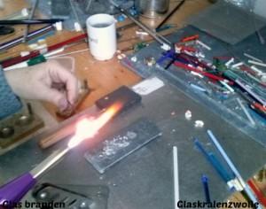 Workshop Glazen Chunks branden